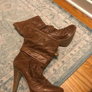 Women's Fashion Leather Slouch Boots